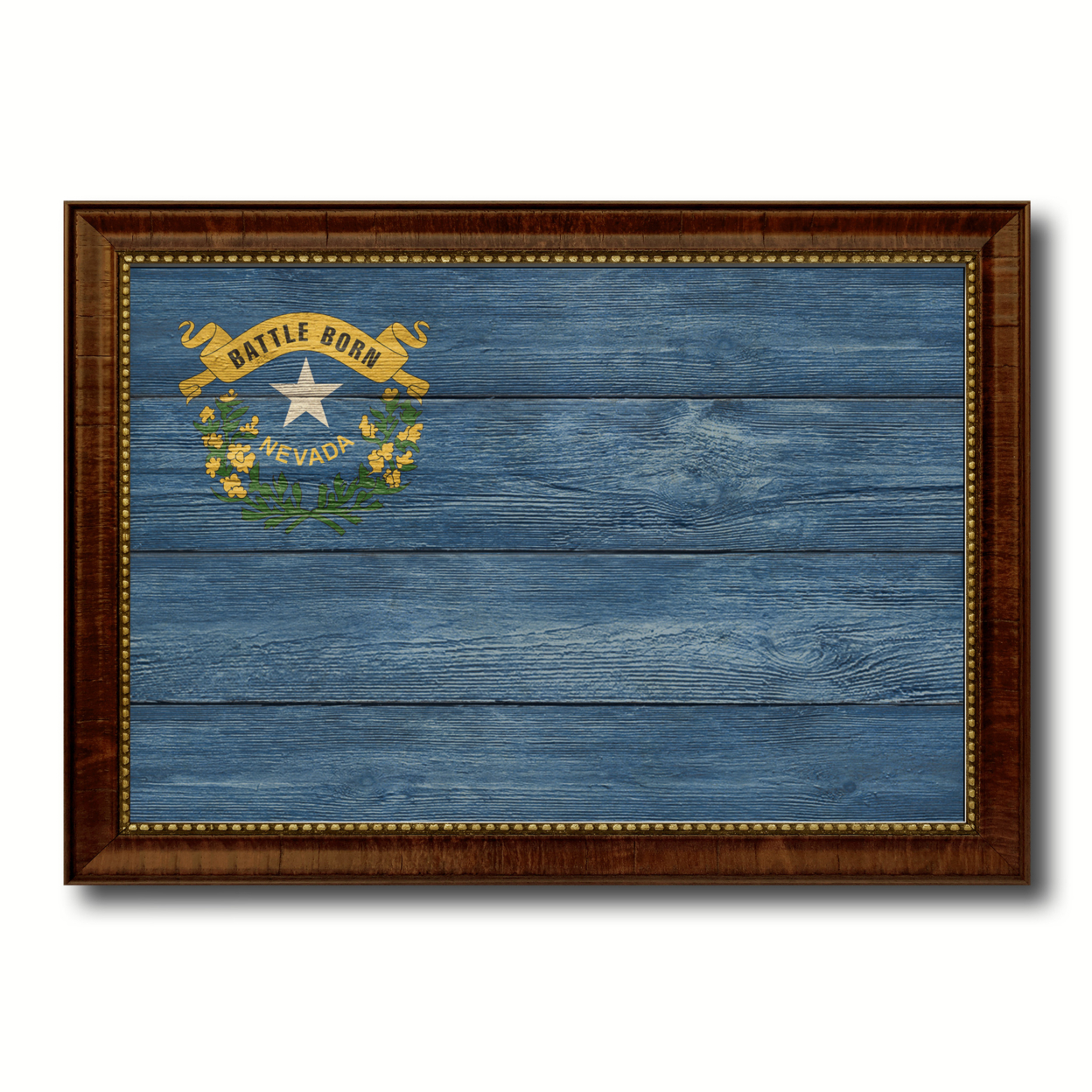 Nevada Texture Flag Canvas Print With Picture Frame Gift Ideas Home Decor Wall Art Decoration