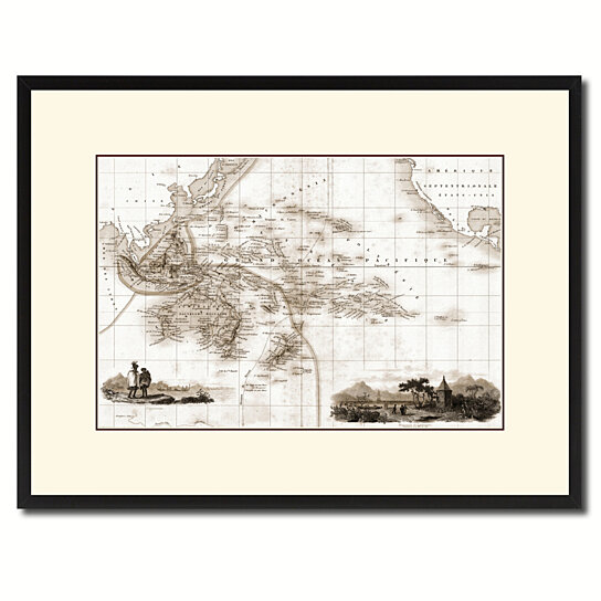 Buy Oceania Australia New Zealand Vintage Sepia Map Canvas Print With Picture Frame Gifts Home Decor Wall Art Decoration By Spotcolorart Usa Moon On Dot Bo