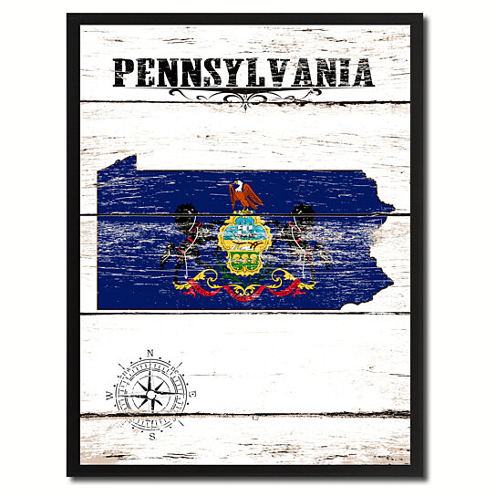 Buy Pennsylvania State Flag Canvas Print Picture Frame Home Decor Wall Art Gifts By Spotcolorart