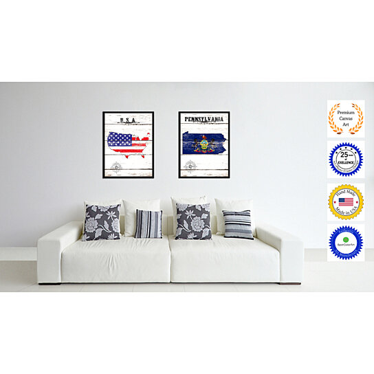 Buy pennsylvania state flag canvas print picture frame for Penn state decorations home