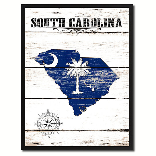 South Carolina Home Decor South Carolina Art Columbia Sc: Buy South Carolina State Flag Canvas Print With Picture