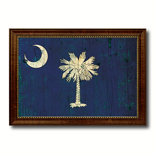 50cb76b15c19 Trending product! This item has been added to cart 79 times in the last 24  hours. South Carolina Vintage Flag Canvas Print with Picture Frame Gift ...