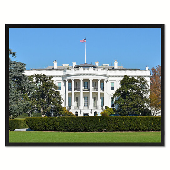 Buy white house washington dc landscape photo canvas print for Buy house in dc