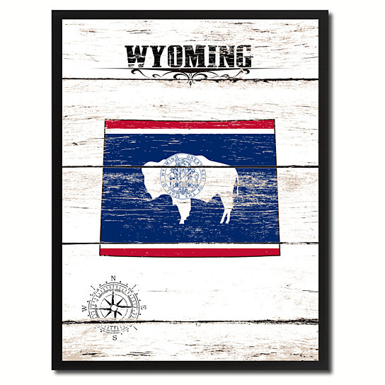 Buy wyoming state flag canvas print with picture frame for Wyoming flag coloring page