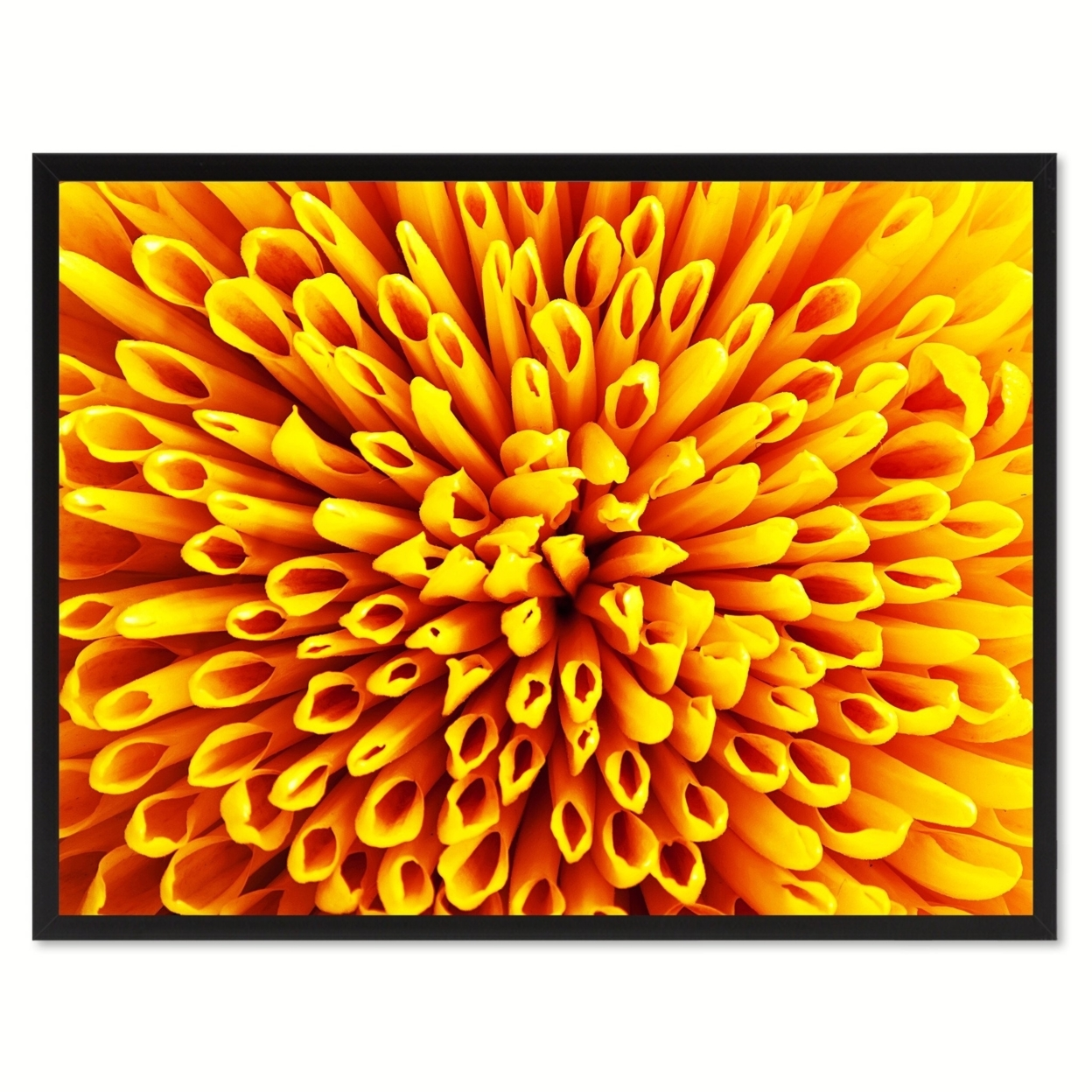 Yellow Chrysanthemum Flower Canvas Print With Picture Frame Home Decor Wall Art Decoration 90037