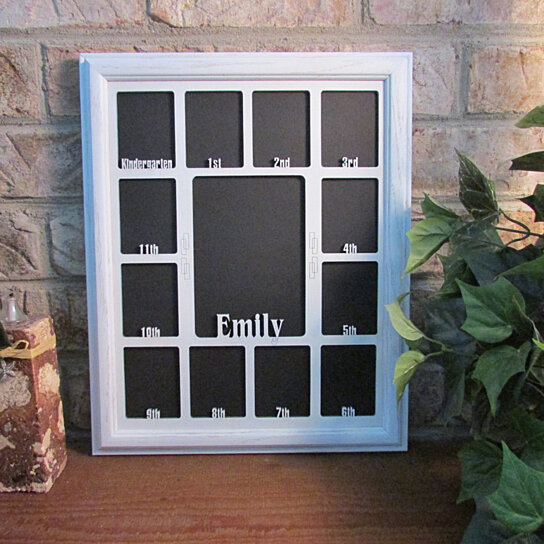 Buy School Years Picture Frame Personalized Name White Frame