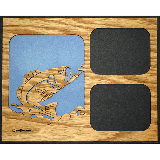 Buy bass fishing picture frame insert mat 8x10 by stan 39 s for Fishing picture frame