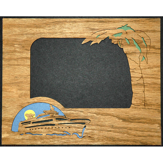 Buy Cruise W Palm Tree Picture Frame Insert Mat 8x10 By Northland