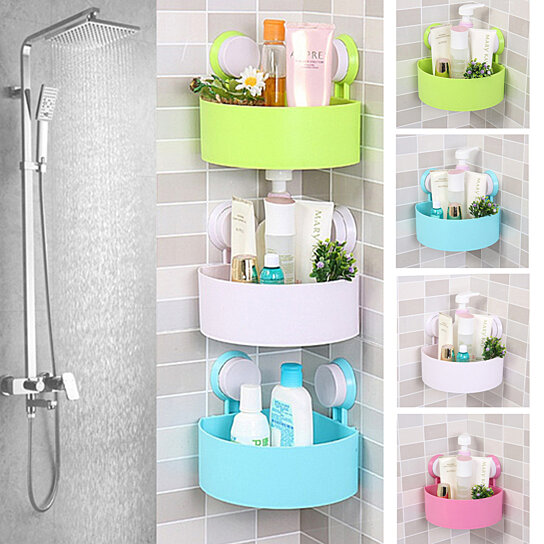 Buy Bathroom Shelf Shower Organizer Rack Holder Shampoo Soap