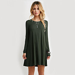 Long Sleeve Warm Cotton Dress