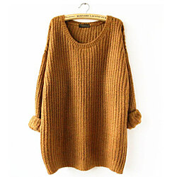 Oversized Long Sleeve Knitted Crochet Sweater