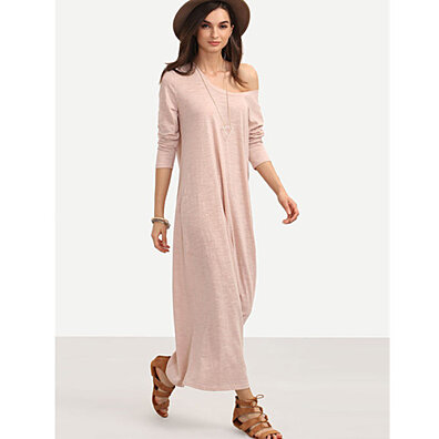 Soft Long Shift Sweatshirt  Dress