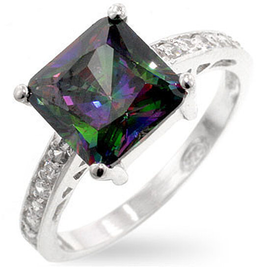 Buy Diamond Engagement Ring Mystic Topaz By Sterling