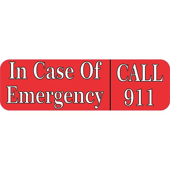 Buy 10x3 Emergency Call 911 Vinyl Business Decal Store