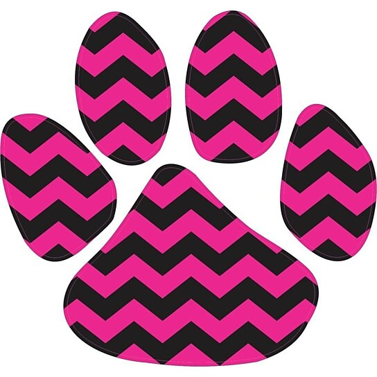 Case Design cell phone cases store : Buy 5in x 4.5in Pink and Black Chevron Paw Print Animals Bumper ...