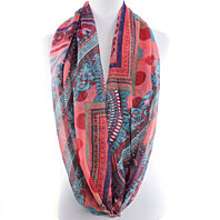 Trendy Aztec all seasons infinity scarf