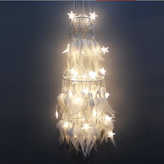 quality design 79fc9 29426 Large Dream Catcher with 50 LED String Fairy Lights Decoration Ornament Gift