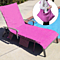 Pool Lounge Chair Absorbency Towel Cover Beach Towel with Storage Pockets