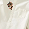 Women White Long Sleeve Cat Embroidery Blouses