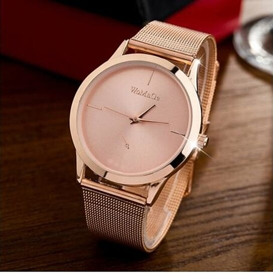 Buy Women Rose Gold Stainless Steel Quartz Watch By Styledome On Opensky