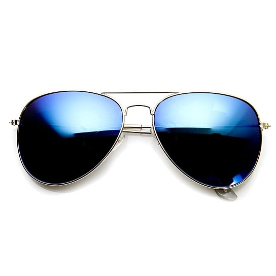 Gold Color Frame Sunglasses : Buy Classic Gold Frame Color Mirror Lens Aviator ...