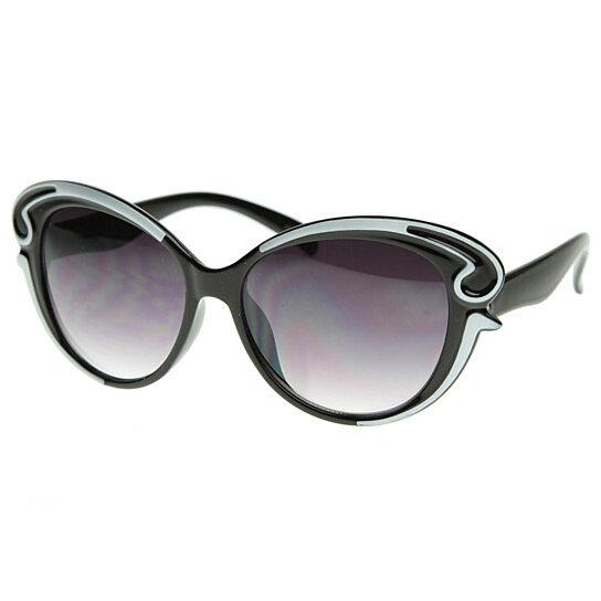 8034da379d2 Buy Designer Inspired Butterfly Shape Baroque Style Oversized Fashion  Sunglasses - 8497 by SunglassLA on OpenSky
