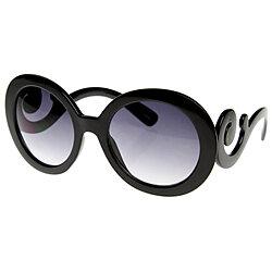 5babf592c10e Designer Oversized High Fashion Sunglasses w  Baroque Swirl Arms - 8410