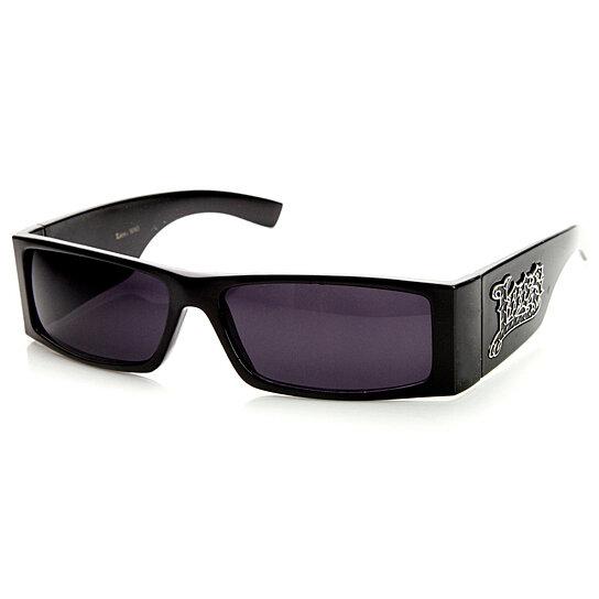 52d155bcd5d Buy Hardcore Locs Shades Wide Fit Rectangular Gangsta Sunglasses by  SunglassLA on OpenSky