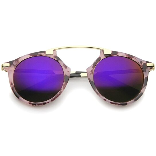 c6f008ea03 Buy High Fashion Arched Marble Color Frame Color Mirror Pantos Aviator  Sunglasses 48mm by SunglassLA on OpenSky