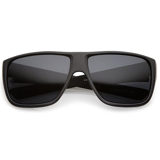 e518f49389ced Trending product! This item has been added to cart 76 times in the last 24  hours. Men s Oversize Flat Top Wide Temple Polarized Lens Square Sunglasses  62mm