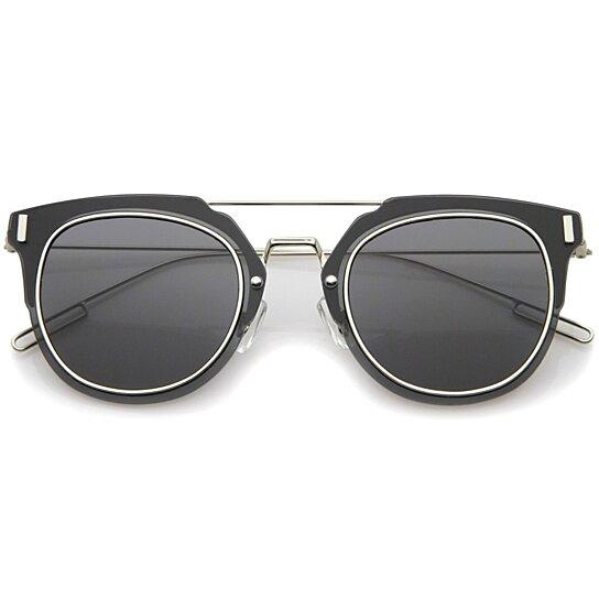 9920923845c Buy Minimal Ultra Thin Wire Frame Inner Rim Flat Lens Pantos Sunglasses  58mm by SunglassLA on OpenSky