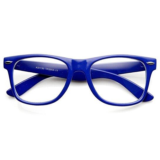 Blue Rimmed Orange Lens Glasses
