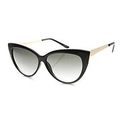 76c5e058a08d Womens Glam Fashion High Metal Temple Oversized Cat Eye Sunglasses 9795