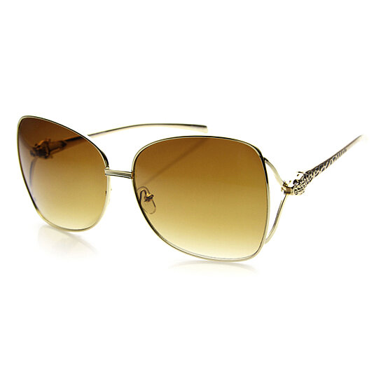 9a32c02341 Buy Womens Oversized High Fashion Metal Jaguar Studded Ladies Sunglasses  9790 by SunglassLA on OpenSky