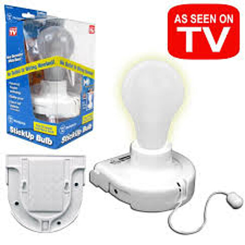 Wall Light Bulb As Seen On Tv : Buy As Seen on Tv Utility Bulb, Stick Up Bulb Instant LIght by Super Easy Shopping on OpenSky