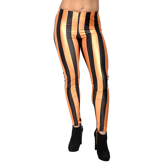 Buy gold and black stripes leggings design 201 by badass for Kitchen design 06606