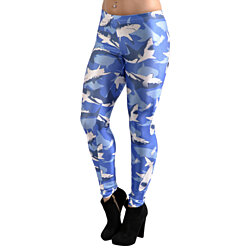 Blue shark camo leggings size medium tall