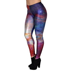 Supernova Galaxy Leggings Size Medium-Tall