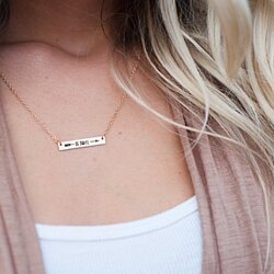 Be Brave Necklaces | Be Brave Arrow Necklace | Silver Gold