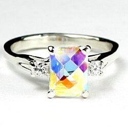 SR171, Mercury Mist Topaz , 925 Sterling Silver Ring