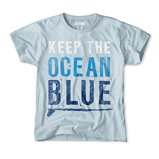 Buy keep the ocean blue kids t shirt by tailgateclothing for Ocean blue t shirt