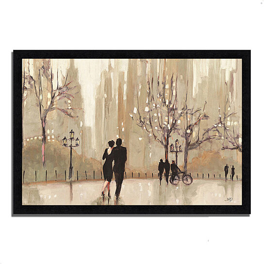 buy an evening out neutral by julia purinton 39 x 27 framed painting print black frame by. Black Bedroom Furniture Sets. Home Design Ideas
