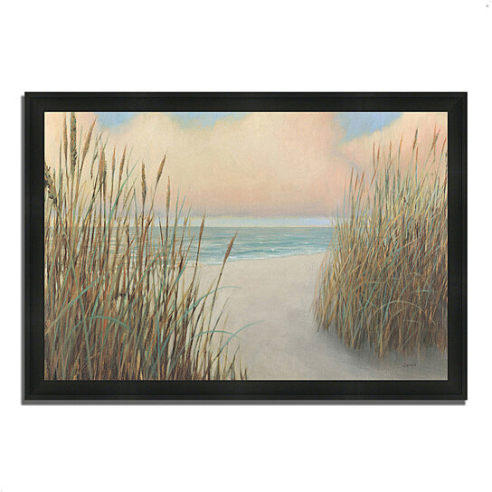 buy beach trail i by james wiens 39 x 27 framed painting print silky black frame by. Black Bedroom Furniture Sets. Home Design Ideas