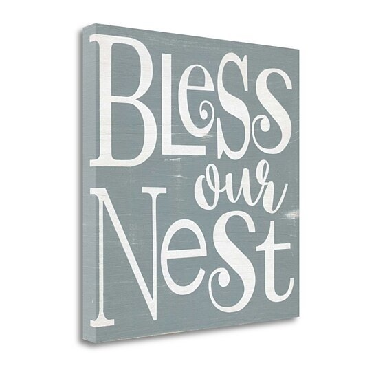 """Buy Bless Our Nest By Alli Rogosich, 20"""" X 20"""" Fine Art Giclee Print On Gallery Wrap Canvas"""