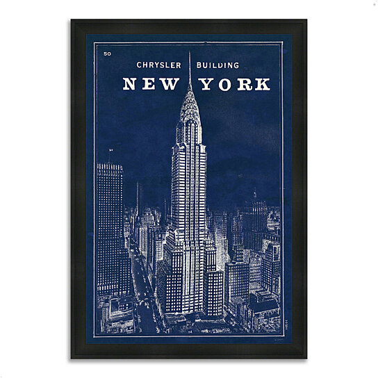 buy blueprint map new york ii by sue schlabach 27 x 39 framed painting print silky black. Black Bedroom Furniture Sets. Home Design Ideas
