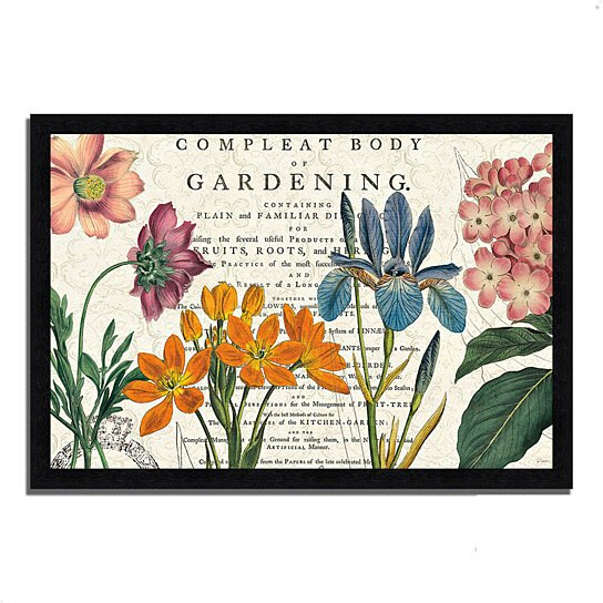 buy botany by sue schlabach 39 x 27 framed painting print black frame by tangletown fine art. Black Bedroom Furniture Sets. Home Design Ideas