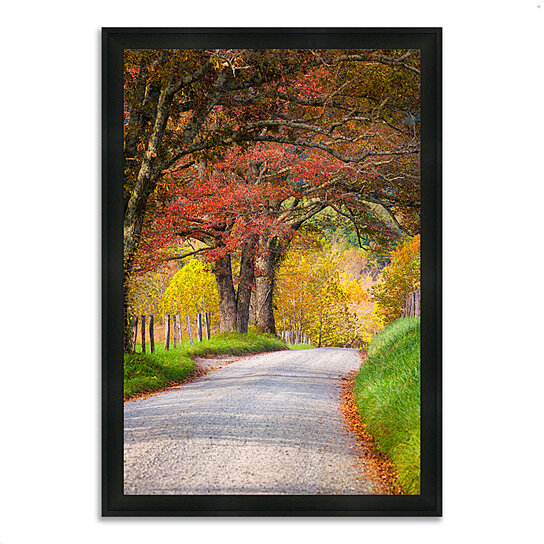 buy country road ii 27 x 39 framed photograph print silky black frame by tangletown fine art. Black Bedroom Furniture Sets. Home Design Ideas