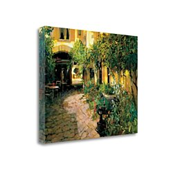 "Courtyard - Alsace By Philip Craig, 31"" x 25"" Fine Art Giclee Print on Gallery Wrap Canvas, Ready to Hang"