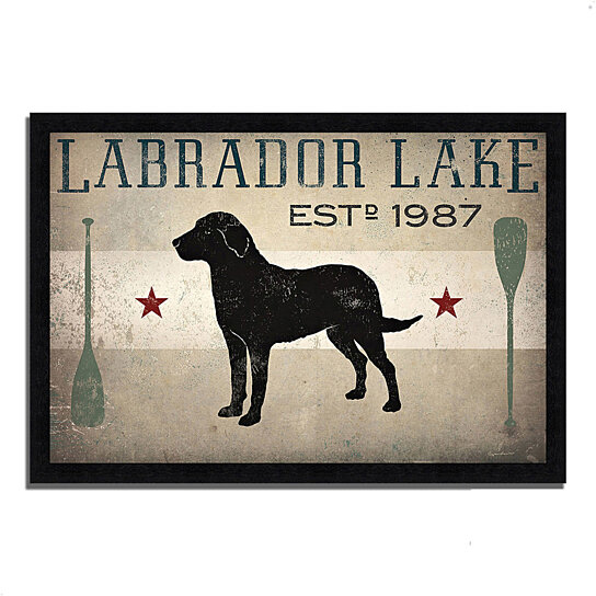 buy labrador lake by ryan fowler 39 x 27 framed painting print black frame by tangletown. Black Bedroom Furniture Sets. Home Design Ideas