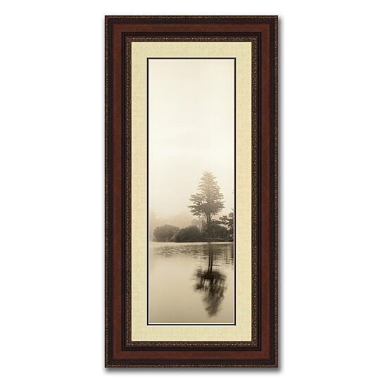 buy lakeside i framed photograph print in balmy 20 x 40 brown frame with gold accents by. Black Bedroom Furniture Sets. Home Design Ideas